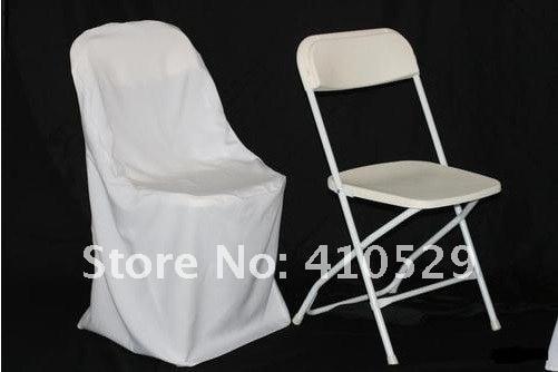 Белый цвет/Чехол на кресло из полиэфира/чехлы на стулья для свадебного банкета/ для складных стульев