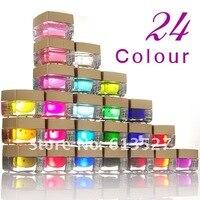 бесплатная доставка-24 цвет перламутровый перламутр уф-гель для искусства ногтя na453