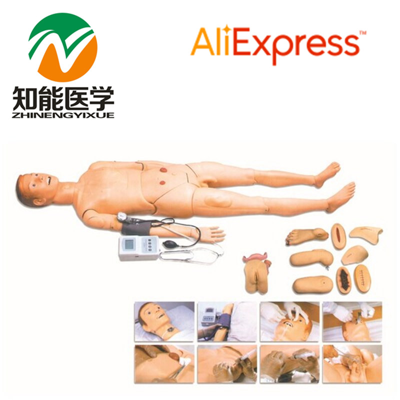 BIX-H2400 Advanced Full Function Nursing Training Manikin WBW155 advanced full function nursing training manikin with blood pressure measure bix h2400 wbw025