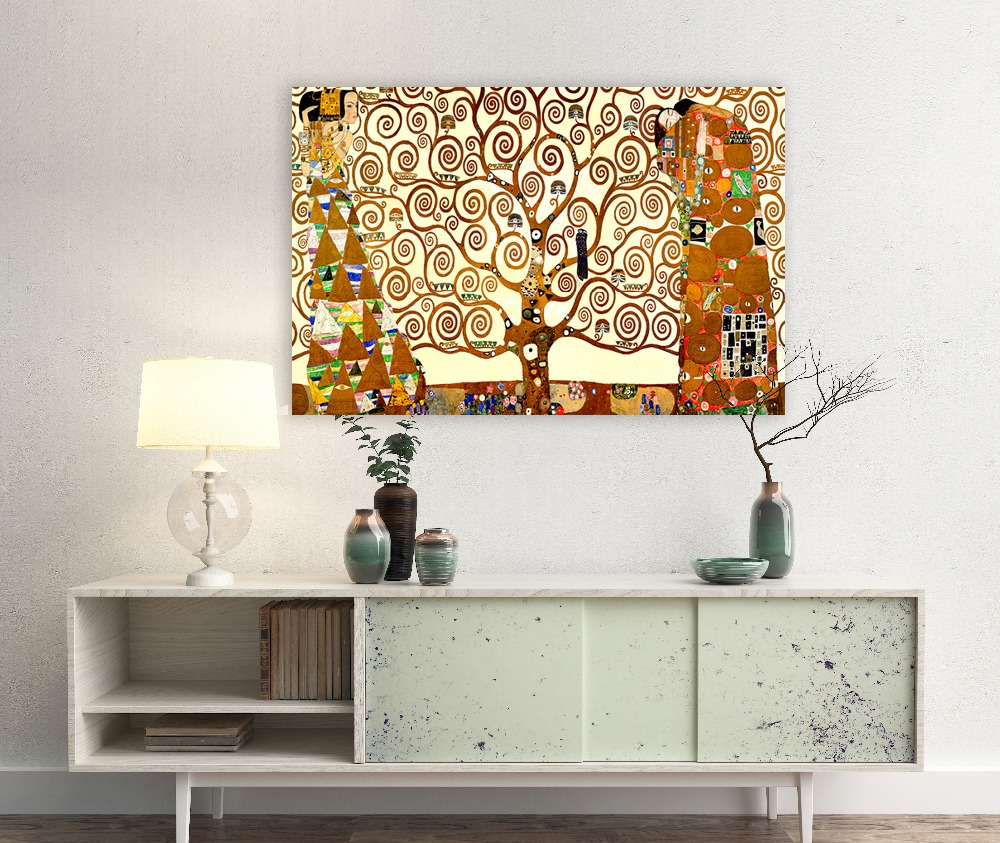 klimit the tree of life giclee print Canvas Art Office Decor,Vinage art canvas unframed