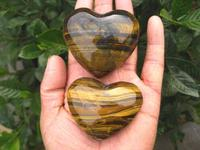 17g High Quality Heart Shape Tiger Eye Quartz Crystal Stone For Gift Items