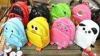 1 шт./лот школьный детский, искусственная кожа ребенка рюкзак, детская сумка, нескольких животных в форме школьников мешок, бесплатная доставка