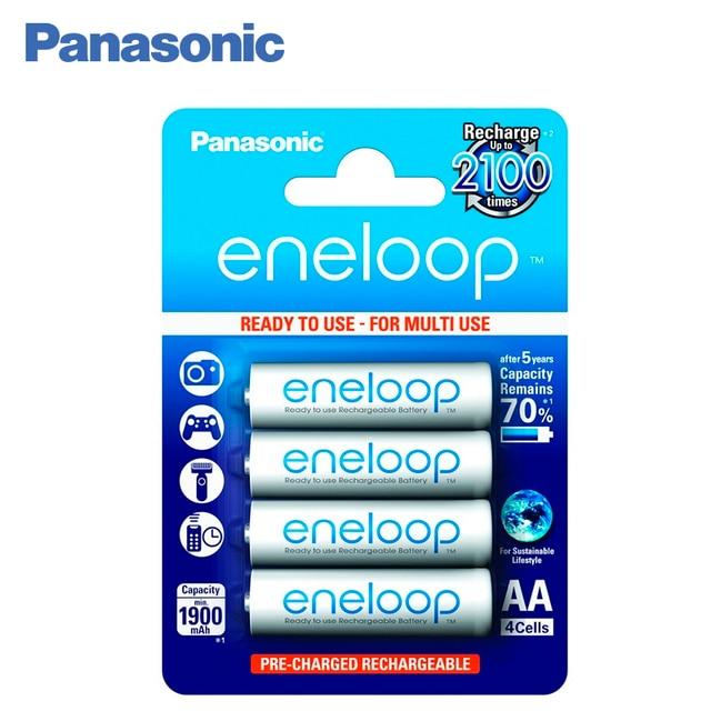 Panasonic BK-3MCCE/4BE Аккумуляторы eneloop 1900 мАч AA R6 BL4. Топовая модель высокой емкости и производительности для активных пользователей мощной техники (вспышка для фотокамеры, радиоуправляемые игрушки и пр.)