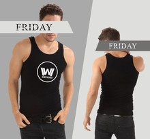 Westworld Sleeveless Tank Top Summer Men Bodybuilding And Plus Size Cotton Exercise Workout Tank Tops West World Logo Clothes