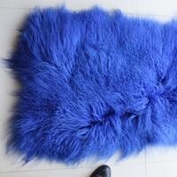 Low price curly wool real goat rugs/mongolian sheep lamb fur plate blanket/Tibetan sheep mattress