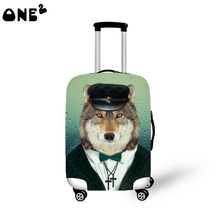 ONE2 cute design hot sale cartoon pattern plastic luggage wheel cover for 22-26 inch suitcase transparent luggage cover