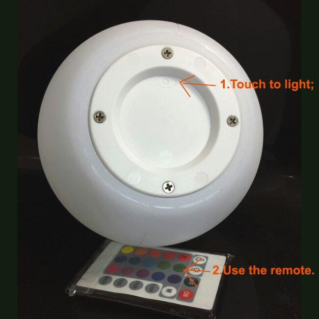 bola humor com controle remoto regulável lâmpada