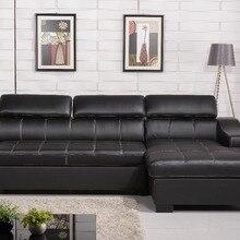 Функциональный диван-кровать из натуральной кожи 0411-AL701