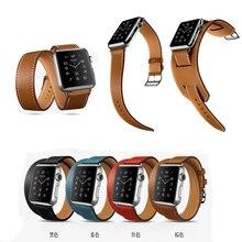 Для Apple , часы ремешок ремешок носо подлинная натуральной кожи одного + двойная петля + браслет 38 мм 42 мм