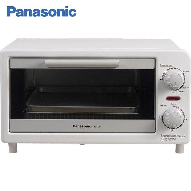 Panasonic NT-GT1WTQ Мини-печь, тостер, 3л, мощность 1090-1310 Вт, регулировка температуры и времени, таймер, двусторонний нагрев, одновременное поджаривание 2 тостов, выдвижной лоток для крошек, звуковой сигнал.
