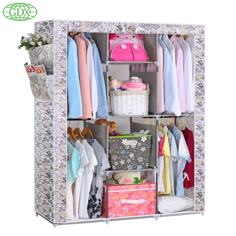 Rolling Wardrobe Closet. GDX RUS 1Pc New Hot Large Load Capacity Non Wove  Folding Reinforcement Clothes Store Content