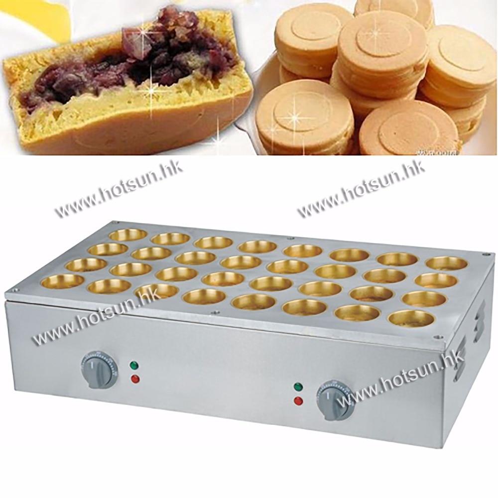 Free Shipping 32pcs 6.8x2.3cm 220v Electric Obanyaki Dorayaki Red Bean Waffle Baker Maker