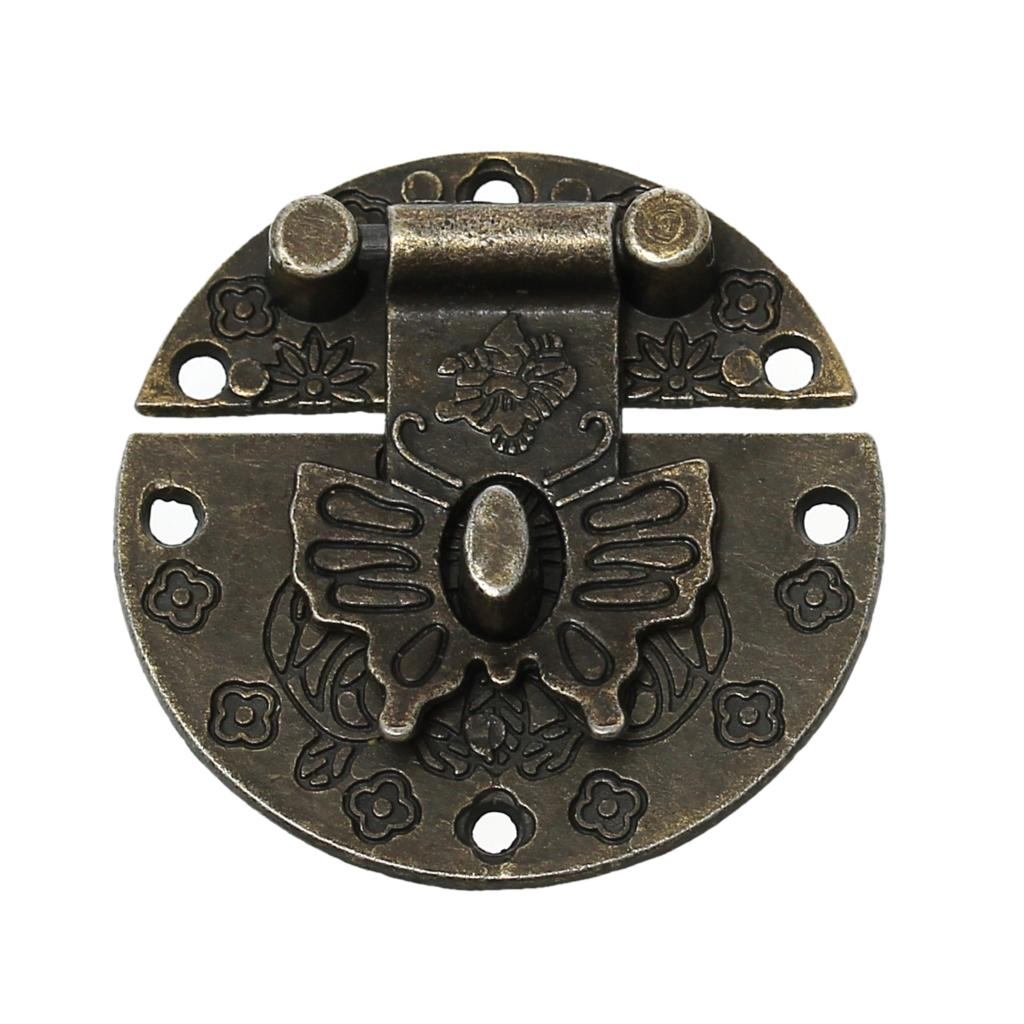 Jewelry Wooden Box Lock Hardware Antique Bronze Flower Pattern 3.9cm,10 Sets 2016 newJewelry Wooden Box Lock Hardware Antique Bronze Flower Pattern 3.9cm,10 Sets 2016 new