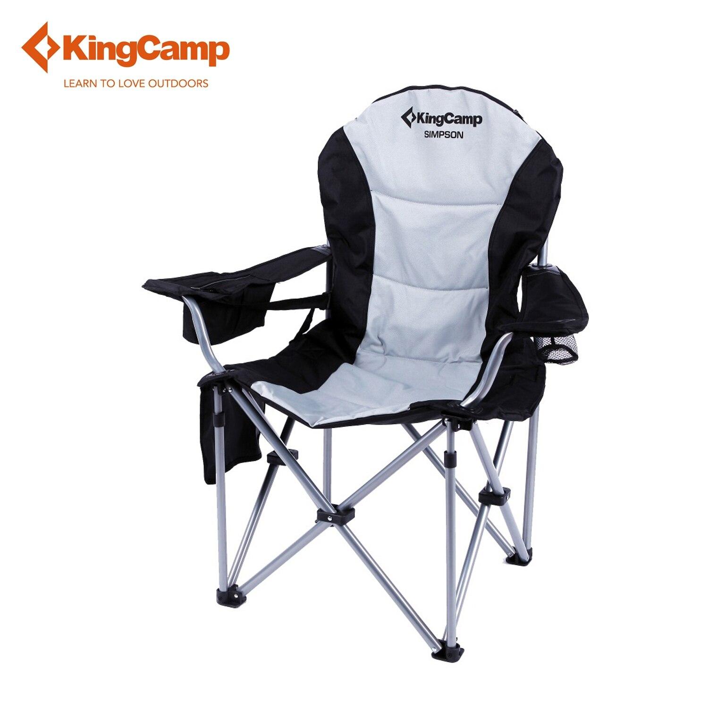 kingcamp transpirable de tela sillas plegables sillas de playa al aire libre para la pesca y