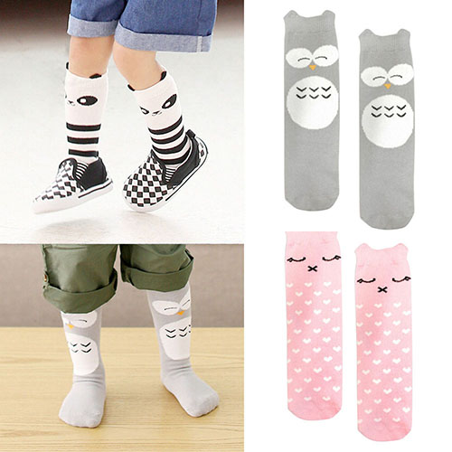 Baby Leg Warmers Infantil Cartoon Tights Cotton Knee-High Socks