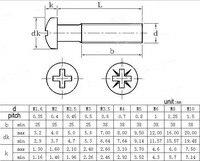 м3 х 5 крепежный винт креста встраиваемые винты с цилиндрической головкой 2000 шт