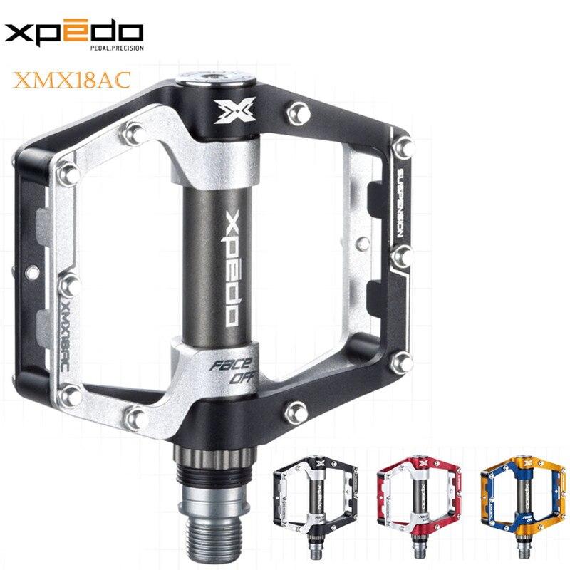 ФОТО XPEDO XMX18AC 6061 Aluminum CNC Cr-mo spindle bike pedal
