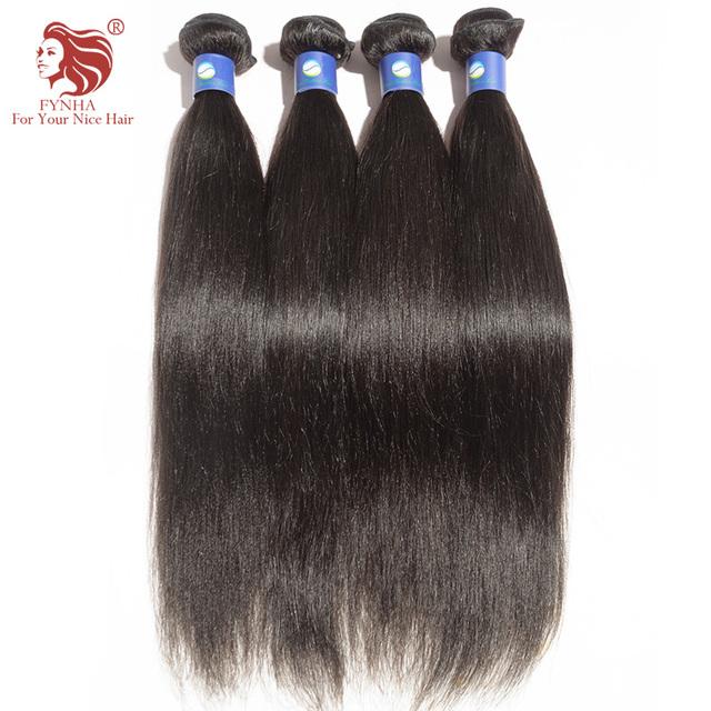 4 pçs/lote luz yaki extensões de cabelo humano grau 6A Brasileiro virgin cabelo tece máquina trama para o seu bom cabelo livre grátis