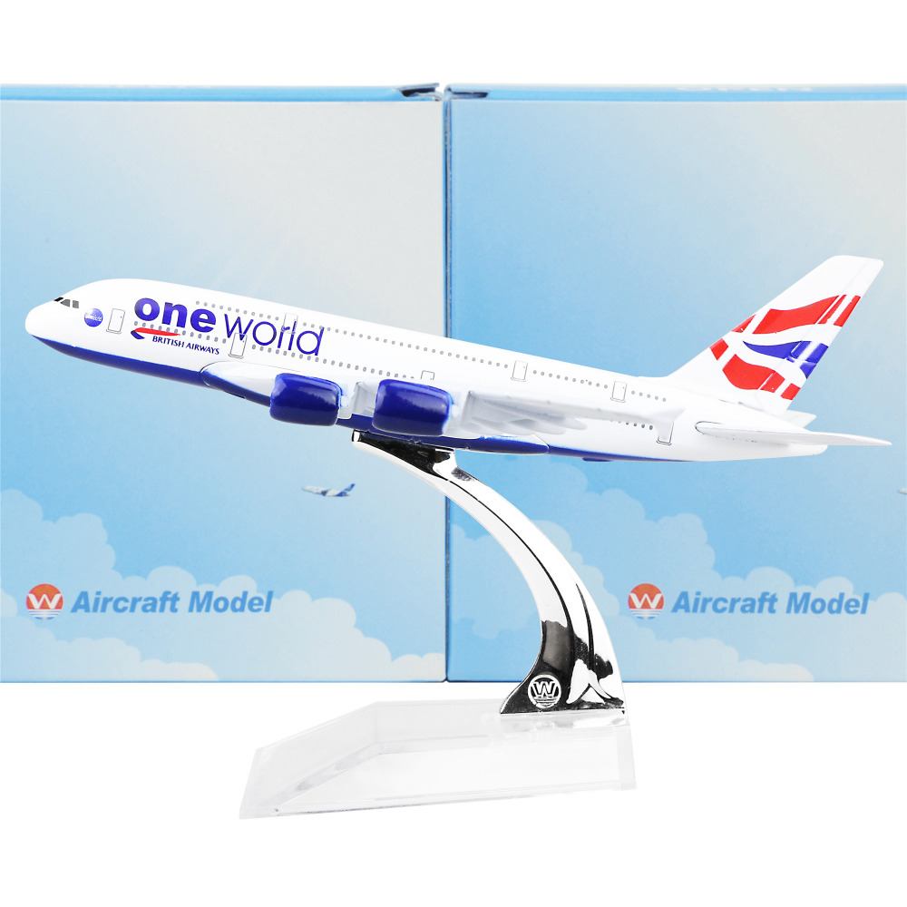 British Airways Airbus380 16cm airplane child Birthday gift plane models toys Free Shipwping Christmas gift