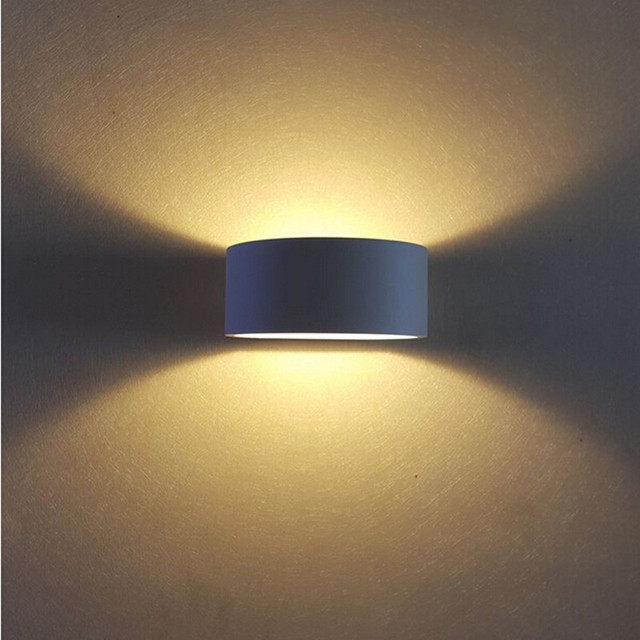 Led Wandlamp 75mm * 75mm Zwart/wit/goud Aluminium Up Down Light ...
