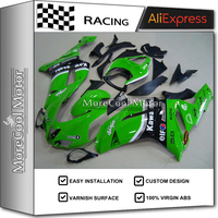 Injection ABS Motorcycle Fairing Kits For Kawasaki ZX6R 2007 2008 07 08 Cowling BodyKit Green Black