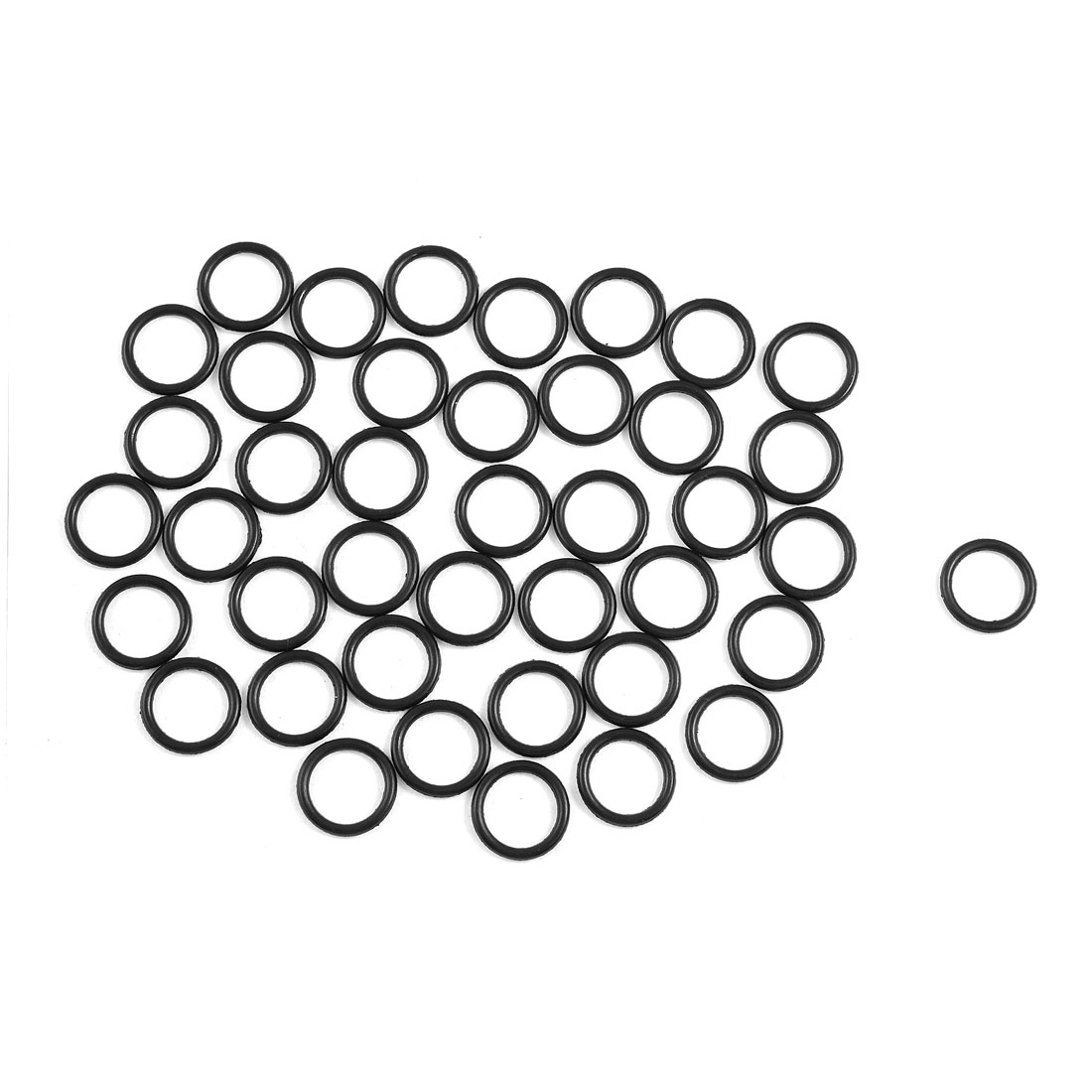 Uxcell 50 Pcs 1 5mm Sealing Nbr O Rings Gaskets Washers Id
