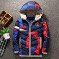 2016 зимние дети мальчики пуховик пальто мода капюшоном толстые твердые теплое пальто мальчик зимняя одежда верхняя одежда