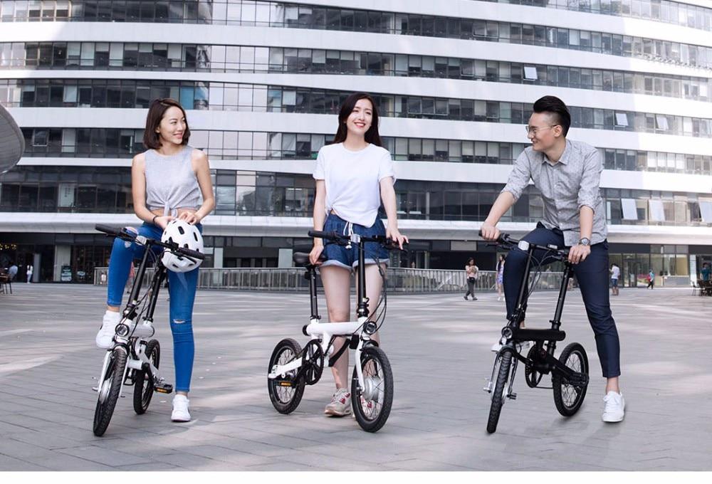 UT8izfaXV8aXXagOFbXF - Unique model Mi Qicycle 20KM/H Foldable Bluetooth 4.zero Telephone APP Monitor sensible Electrical Bicycle With 1.8'' Display bike