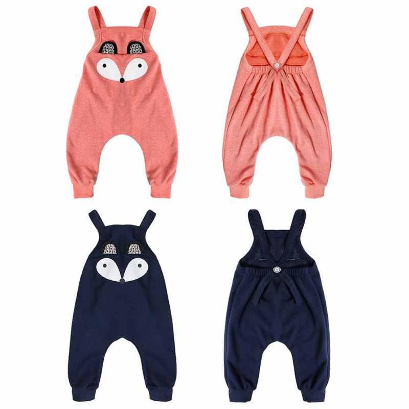 3358cc5a2824 ... Cotton Blend Cartoon Baby Infant Child Girl Boy Toddler Overalls Baggy  Harem Pants Romper
