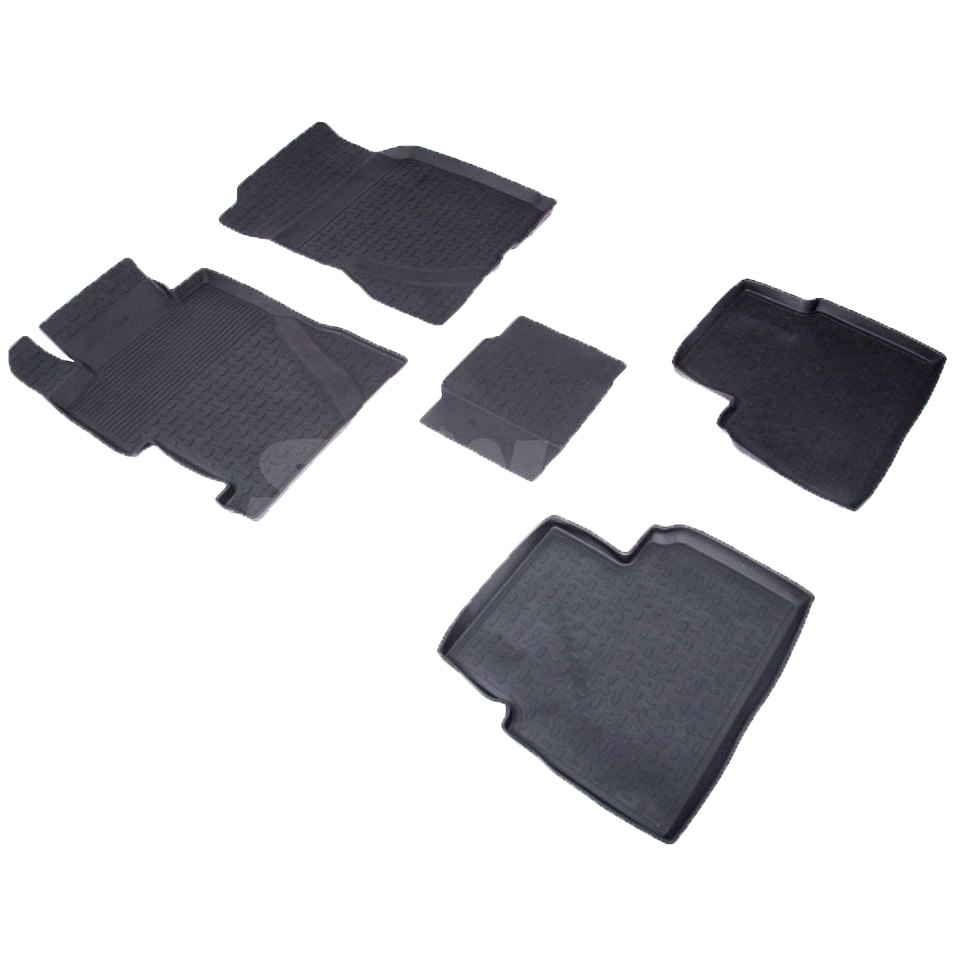 Rubber floor mats for Honda Civic VIII SEDAN 2006 2007 2008 2009 2010 2011 Seintex 81892 rubber grid floor mats for honda accord viii 2008 2009 2010 2011 2012 seintex 00758