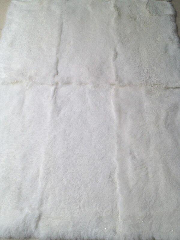 100% vraie plaque de lapin Rex/Rex plaque de peau de fourrure de lapin pour vêtements - 3