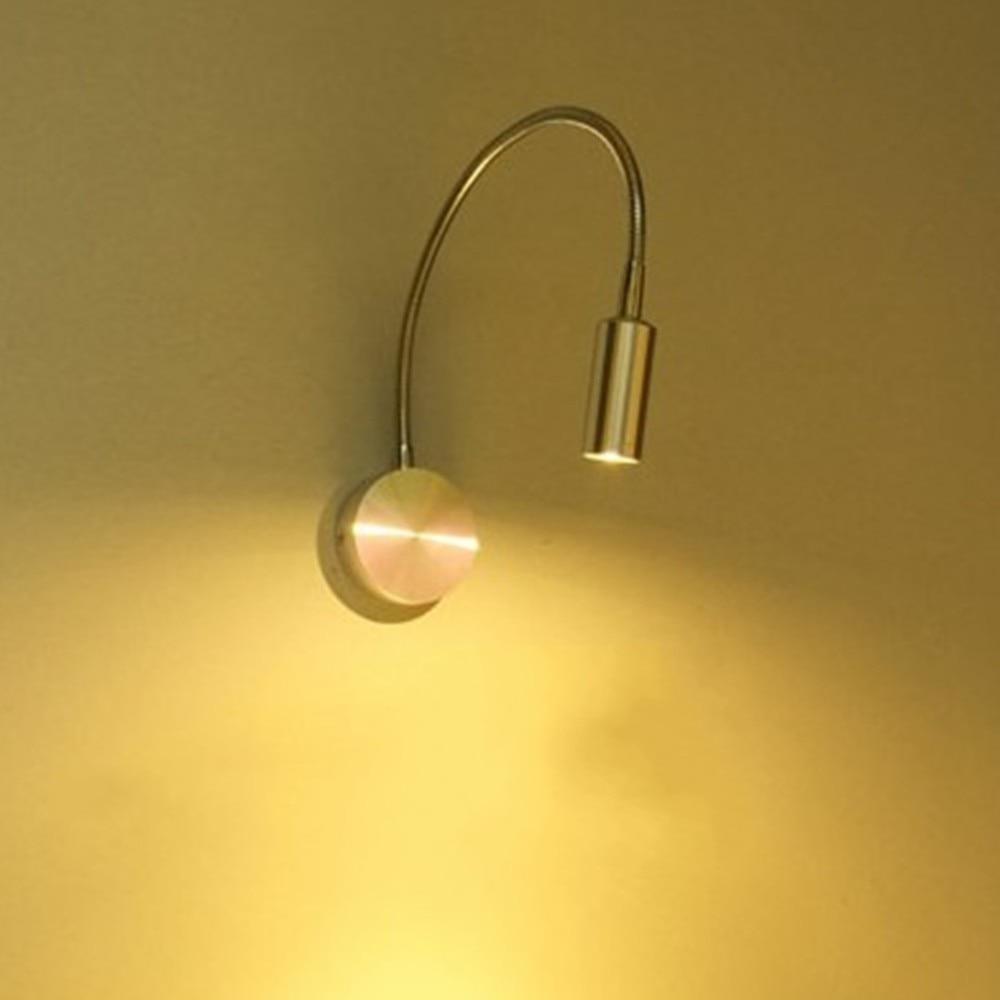 3 Вт AC85-265 12 В AC/DC Задний план зеркало с подсветкой настенный светильник Спальня чтение ночники 30 см регулируемый светильник 220 В серебро