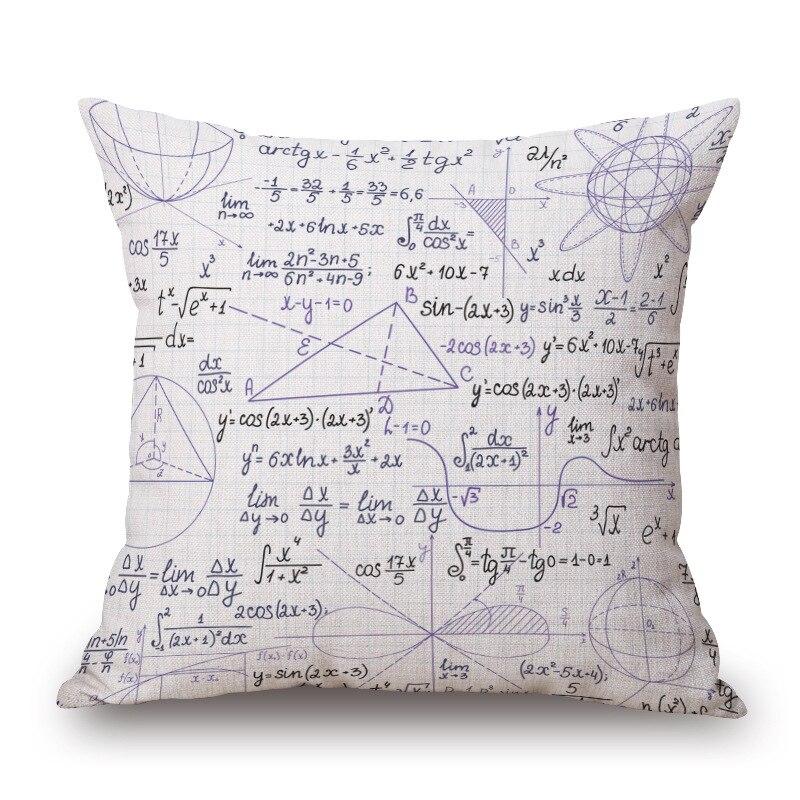 c71413dac Conjunto especial de estudiantes personalidad fórmula matemática caso  decorativo almohada para ayudar a los estudiantes aprenden matemáticas bien  funda de ...