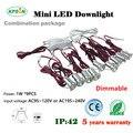 1W*9pcs/set Mini 1W LED Spotlights Indoor Corridor Stair Lighting Lamp AC85-277VDim 120D LED Down Light 15mm Cut wholesale