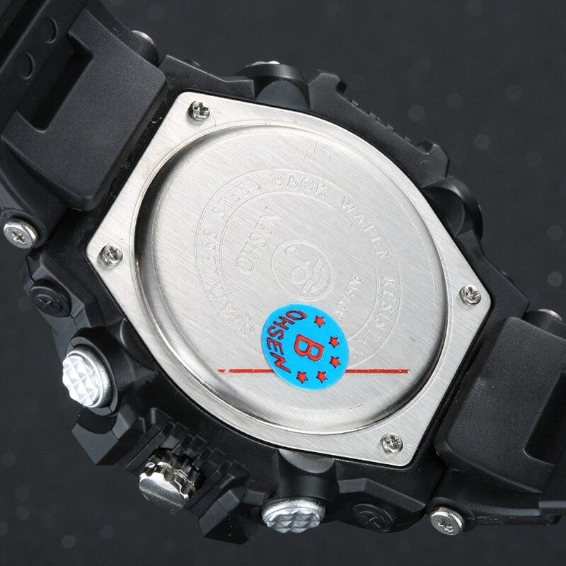 Ohsen merk mannen militaire leger horloge dual-tijdzone quartz - Herenhorloges - Foto 6