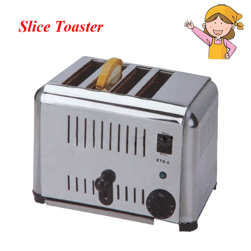 1pc Household Automatic Bread Makers 4 Slice Stainless Steel Bread Toaster for Breakfast EST-4