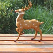 Indoor or home decoration artificial fur christmas deer