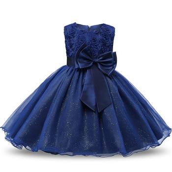 Summer Flower Princess Girl Dress Lace Rose Prom Party Birthday Baby Girls Dresses Clothes Tutu Kids Dress Children Elegant 2017