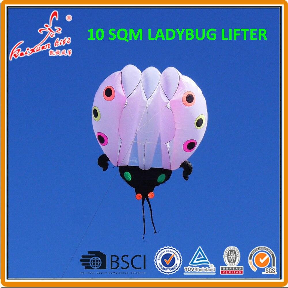 10 sqm Ladybug Kite soft kite show kite Lifter