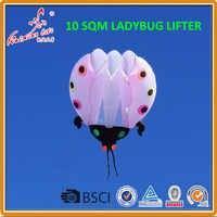 10 sqm Lieveheersbeestje Kite, zachte kite, tonen kite, Lifter
