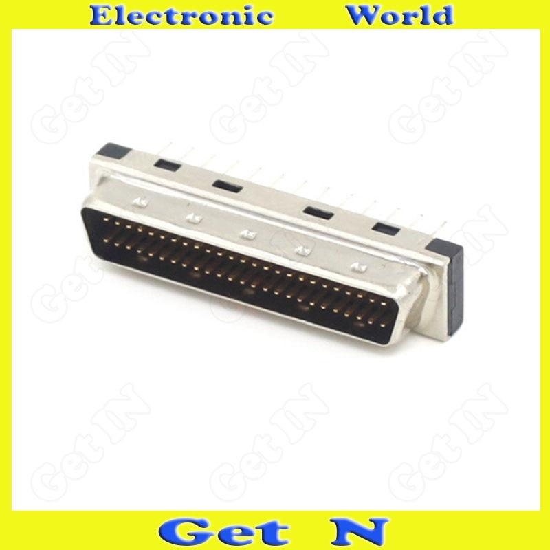5pcs MDD50MA 180 SCSI Plug Straight Pin Connector PCB Male Head 50PIN DB Type Straight Leg