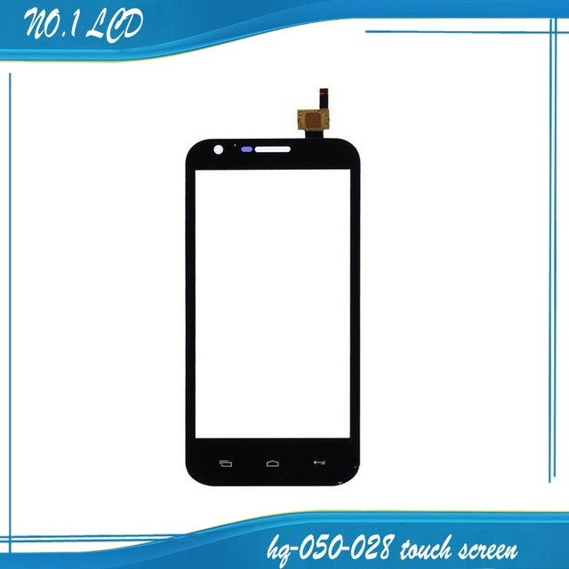 "5.0 ""panel táctil negro para prestigio multiphone pap 5501 duo pap5501 sensor táctil digitalizador de vidrio frontal len envío gratis"