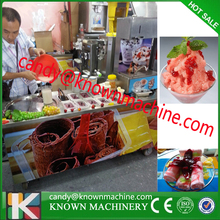 110V 220v fry ice cream machine 2+10 double round pan with 10 tanking with biggest promotion