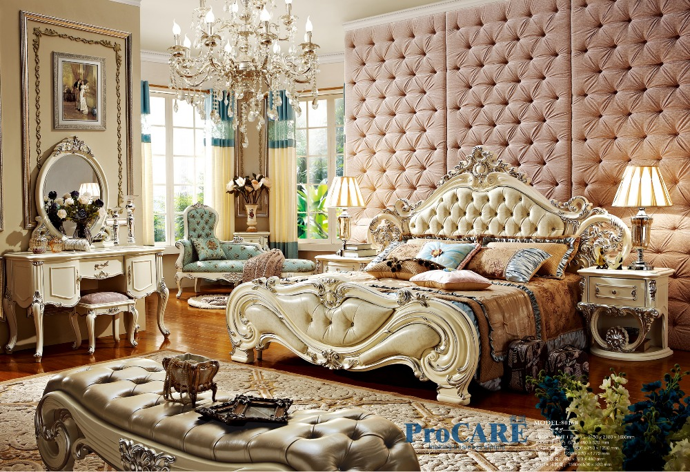 Popular royal bedroom furniture buy cheap royal bedroom Luxury wood furniture