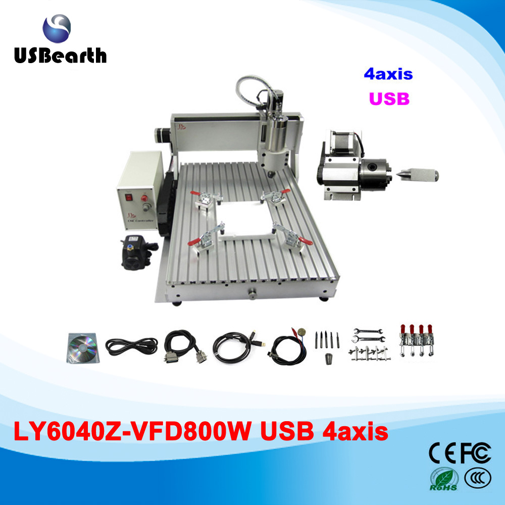 USB Port 800W Spindle 4 Axis CNC 6040 Best Mini 3D CNC Carving Machine Router For Sale cheap price mini cnc router 2520t 3 axis 200w spindle for new user or school tranining