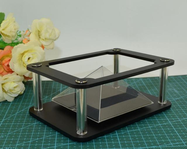 Regalo de la feliz navidad 3d holograma escaparate de la exhibición de samsung equipo de publicidad cajas del teléfono para iphone5s xiaomi
