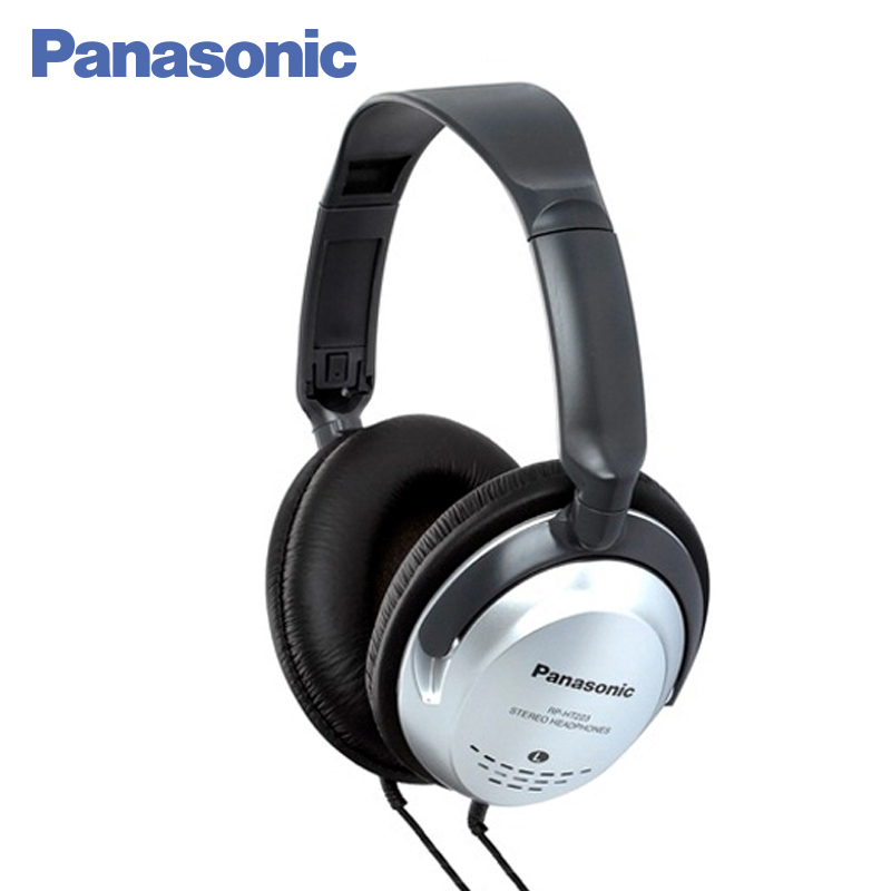 Panasonic RP-HT223GU-S wired noise cancelling earphone monitor HIFI sound headphones stereo headset new arrival awei a845bl bluetooth earphones v4 1 noise reduction neckband hifi stereo earphone for ipod mobile phone sport
