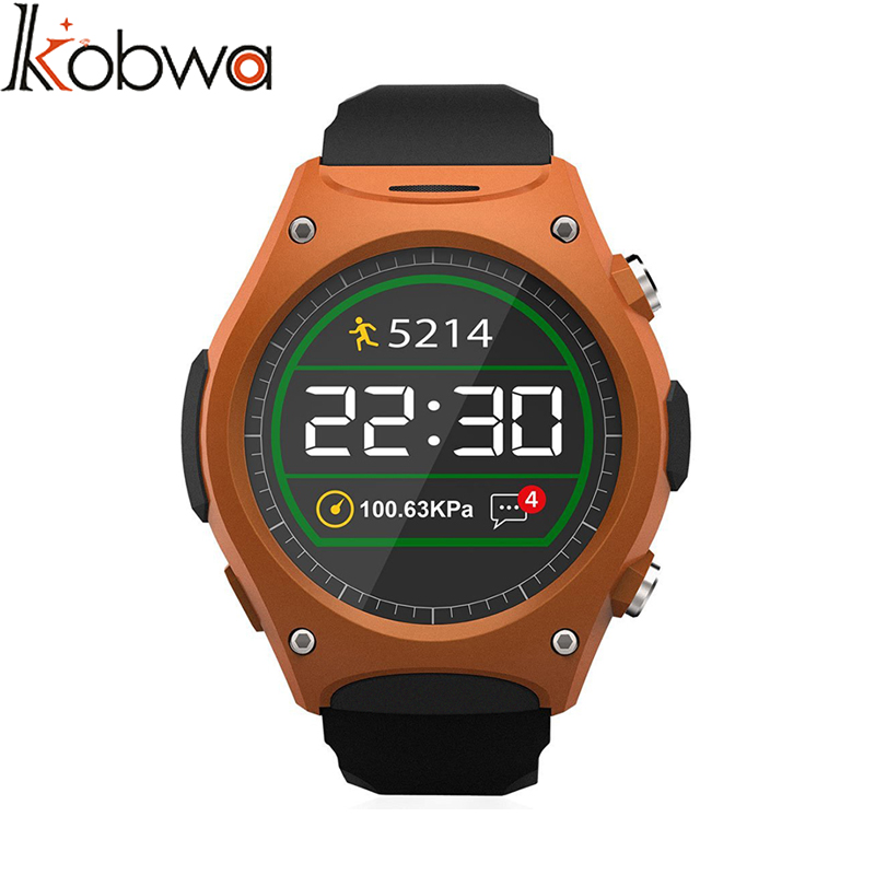 ФОТО kobwa Outdoor Waterproof Bluetooth Sport Smart Wristband Watch For IOS Android Health monitoring sport heart rate Bracelet adult