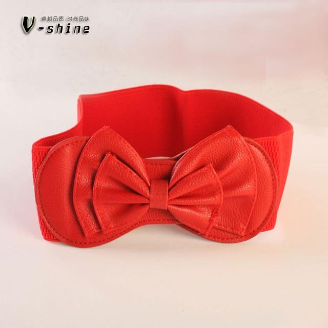 d7cdd473ab93 Coréenne ruban décoration de mode robe féminine rouge ceinture courrier de  sac tout-allumette large