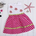 Children Clothing Girls Polka Dot Dress Girls Flower Embroidered Sleeveless Dress Girls Princess Dress Ages 2-9Y 36